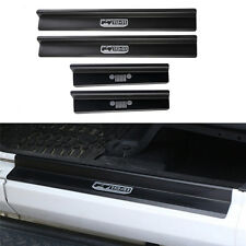 Black Aluminum Door Sill Entry Guard Scuff Plate Protector 4Jeep Wrangler JK 4Dr