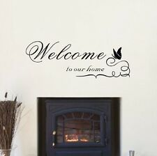 Welcome To Our Home Vinyl Wall Sticker Wall Art Decal Kitchen Dining Room