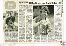 Coupure de presse Clipping 1976 (2 pages) Philippe Nicaud