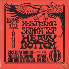 Ernie Ball 2624 8-String Skinny Top Heavy Bottom Electric Guitar Strings 9-80