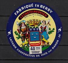 Ancienne étiquette  Fromage  Le Castelneuvien Berry Femme