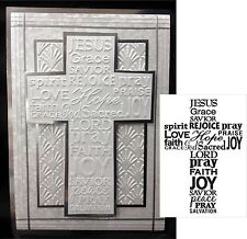 Darice Embossing Folders - CROSS WITH WORDS folder 1218-49 Easter Sympathy