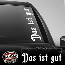 DAS IS GUT sticker 550mm - Dub - Euro- VW - DRIFT - RATLOOK - HOOD - OLDSCHOOL