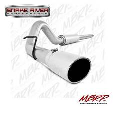 "MBRP 4"" EXHAUST 1999-2004 FORD F250 F350 V10 CAT BACK SINGLE SIDE ALUMINIZED GAS"