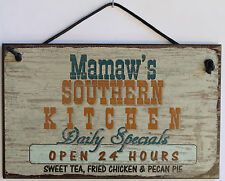 Mamaw s Sign Southern Kitchen Grandma Fried Country South Barbecue Cook ing Soul