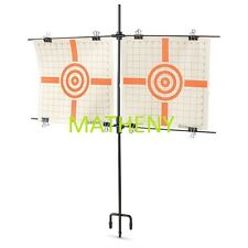 Compact Dual Steel Paper Target Holder Stand ~Gun~ Shooting ~ Sighting ~ Firearm