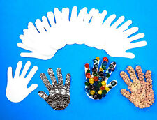 Paper Hand Shapes X100 - Collage Arts and Crafts, notebook, pad, kids