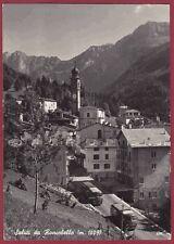 BERGAMO RONCOBELLO 14 CORRIERA AUTOSERVIZIO Cartolina FOTOGRAFICA viagg. 1957