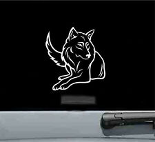 Wolf laying down vinyl decal sticker dog husky wolves cute
