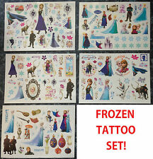 x168 DISNEY FROZEN TEMPORARY TATTOO SET STOCKING FILLER PARTY BAG ANNA ELSA