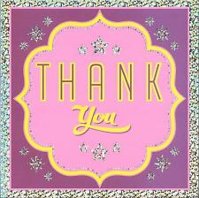 THANK YOU CARD - HOLOGRAPHIC FINISH - LARGER SIZE