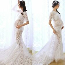 Sexy Maternity Long Maxi Gown Photography Photo Shoot Fancy Lace Maternity Dress