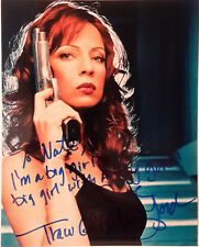 Autograph 8x10 Photo Signed by Traci Lords w Gun-FREE S&H (LHAU-315)