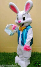 2016 New Easter Bunny Mascot Costume Rabbit Cartoon Fancy Dress Adult Size! c002