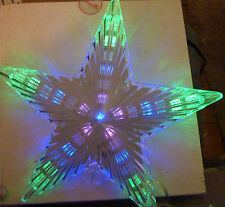 LED Light Up Coloured 3D Star Christmas Tree Topper Xmas Decoration