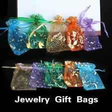 50pcs 7x9.5cm Mixed Colors Organza Jewelry Candy Gift Present X-mas Pouch Bags