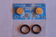 Pulsar LED watch battery spacer set AND batteries for P2 P3 TC1 TC2 QED QTC