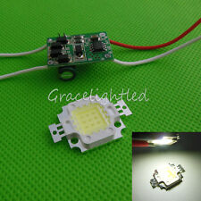 1kit 10W Cool White 6500k High Power LED Chip + 10Watt Led Driver 12V  24V DC