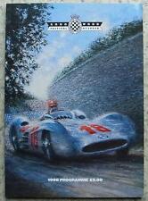 Goodwood festival de course de vitesse 1998 Programme officiel de réunion