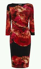COAST * LLENSA * PRINT HARMONY JERSEY DRESS SIZE 18 NEW WITH TAGS