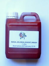 """GHOST (NAGA) PEPPER CHILLI MASH"" 1 Litre (1ltr) - 86% chilli content!"