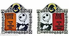 New Disney Pin Good Luck Bad Luck Jack Skellington Nightmare Before Christmas