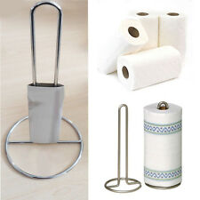 Stainless Steel Roll Holder Kitchen Paper Towel Tissue Stand Metal Storage Stand