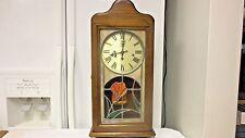 San Francisco Clock Chiming Oak Wall/Mantel Pendulum Key Wind Clock-Working