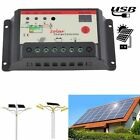 10A/30A Solar Charge Controller PWM 12V/24V F/ Regulator Solar Panel Battery SOC