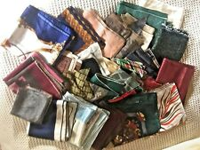 Aunt Fay's Vintage Estate Scarves, Lot of 25 Mixed