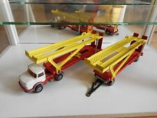 Corgi Juniors Mercedes Car transporter + Double Trailer in White/Red/Yellow