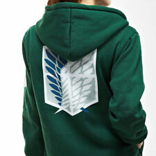 Anime cosplay attack on titan green hooded top