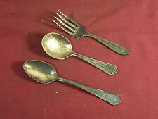 Vintage Antique Baby Spoon Fork Holmes Tuttle H&T Mfg. and Rogers Silverplate