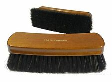 XXL shoe polish brush for high shine - 100 % black horse hair - Made in Germany