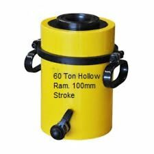 60 TON HOLLOW HYDRAULIC RAM CYLINDER WITH 100mm STROKE. £333.00 + VAT