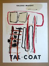 TAL COAT Pierre Affiche LITHO Maeght Abstrait Bretagne Finistère Original Poster