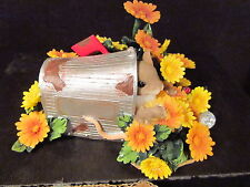 Charming Tails DELIVERED BY YOUR LOVE   Mouse Mailbox  Birthstone Flower October