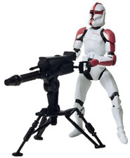 Star Wars Attack of The Clones Red Clone Trooper With Cannon Action Figure