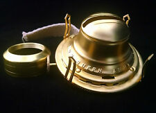 BEST QUALITY BUNDLED NEW #2 QUEEN ANNE SOLID BRASS OIL LAMP BURNER & COLLAR