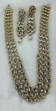 Designer Gold Plated Bollywood Style Jewelry Indian Kundan Bridal Necklace Set
