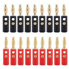 Lot 20pcs Gold Plated Audio Speaker Wire Cable Banana Plug Connector Adapter F9
