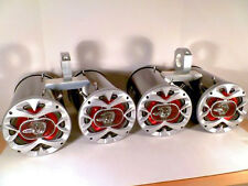 Boat Wakeboard Tower Speakers 2400 Watt Metallic Bling Black Quattro!-SJS Dezign