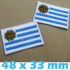 2 X Patches Uruguay Flag Sun of May Embroidered Iron on South America National