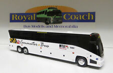 """MTA Maryland Commuter Bus on a Brand New Mold MCI """"J""""  Plastic 11"""" Bank Bus"""