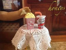 For American Girl Bitty Twin Dolls Mini Pretend Food SCENTED POPCORN and KCOLA