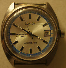 Vintage Clinton Automatic Date 5025A Watch Self Winding Japan 5025-0050T