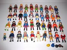 40 PLAYMOBIL Figure Lot PIRATE, SOLDIER, KNIGHT, CHILD, WORKER, SANTA,