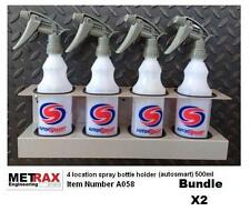2x 4 Autosmart 500ml Spray bottles & holder / Garage Shed Van valet accessory