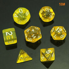 Clubs TRPG Board Games Dungeons & Dragons Multi-sided Dices 7pcs/Set 19 Colors