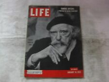 Life Magazine January 14th 1952 Painter Augustus John Published By Time    mg520